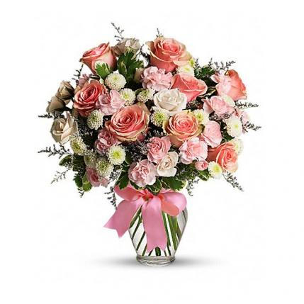 Centro de rosas para ella