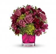 Centro rosas lavanda