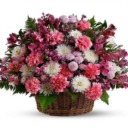 Cesta floral Brotes de Jardín
