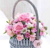 Cesta de Flores Nacimiento