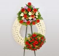 Corona de flor natural Siempre te querremos