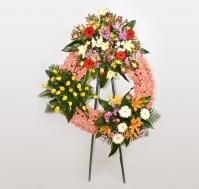 Corona de flores frescas Con Amor