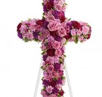 Cruz de flores lavanda